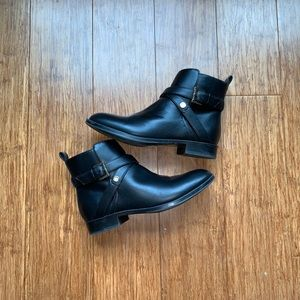 Black Buckle (with side zipper) Booties